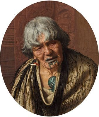 A Maori Chieftainess by Charles Frederick Goldie More
