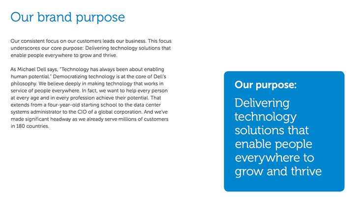 brand guidelines - brand promise - Dell