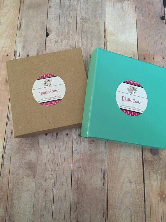 "Jewelry Gift Box - Teal Kraft Gift Boxes - Brown Kraft Gift Box - Cotton Filled Box - Jewelry Box - Packaging - Kraft Box - 3.5"" x 3.5"""