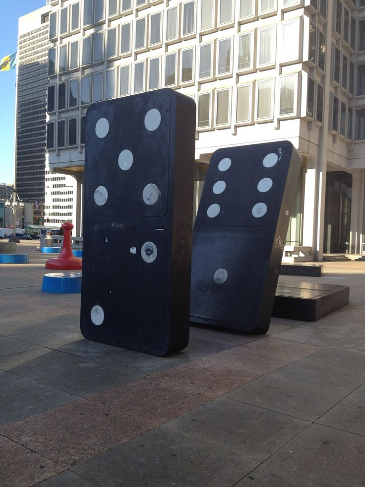 The Board Game Art Park in Philadelphia is full of scattered game pieces. It's a fun place to walk through.