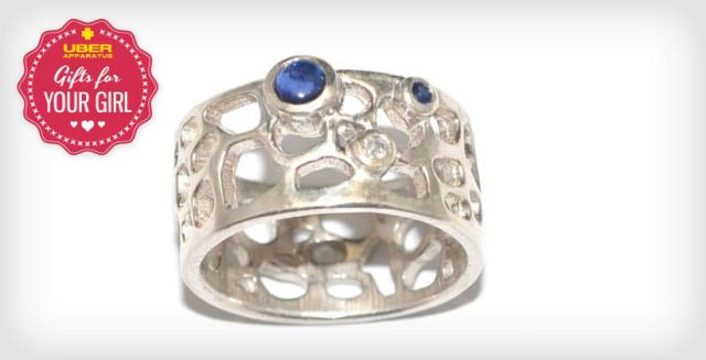 Morocco Ring with Sapphire and Diamond