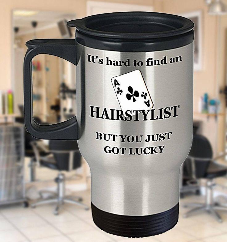 Ace Hairstylist Mug, Hair Stylist Travel Mug, Hairdresser Gift, Hairstylist Gift, Hair Stylist Mug, Hair Salon Decor, 14oz Thermal Cup by PortunaghDesign on Etsy
