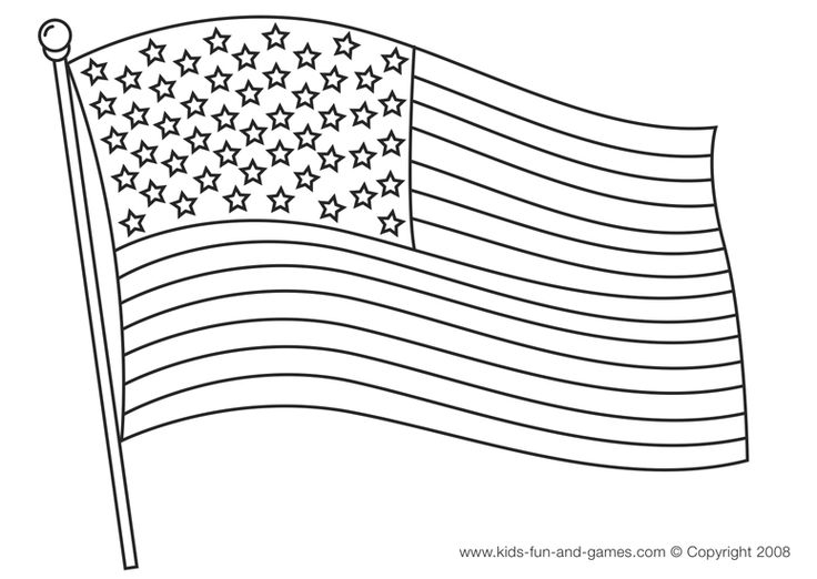 American flag coloring page Patriotic Pinterest