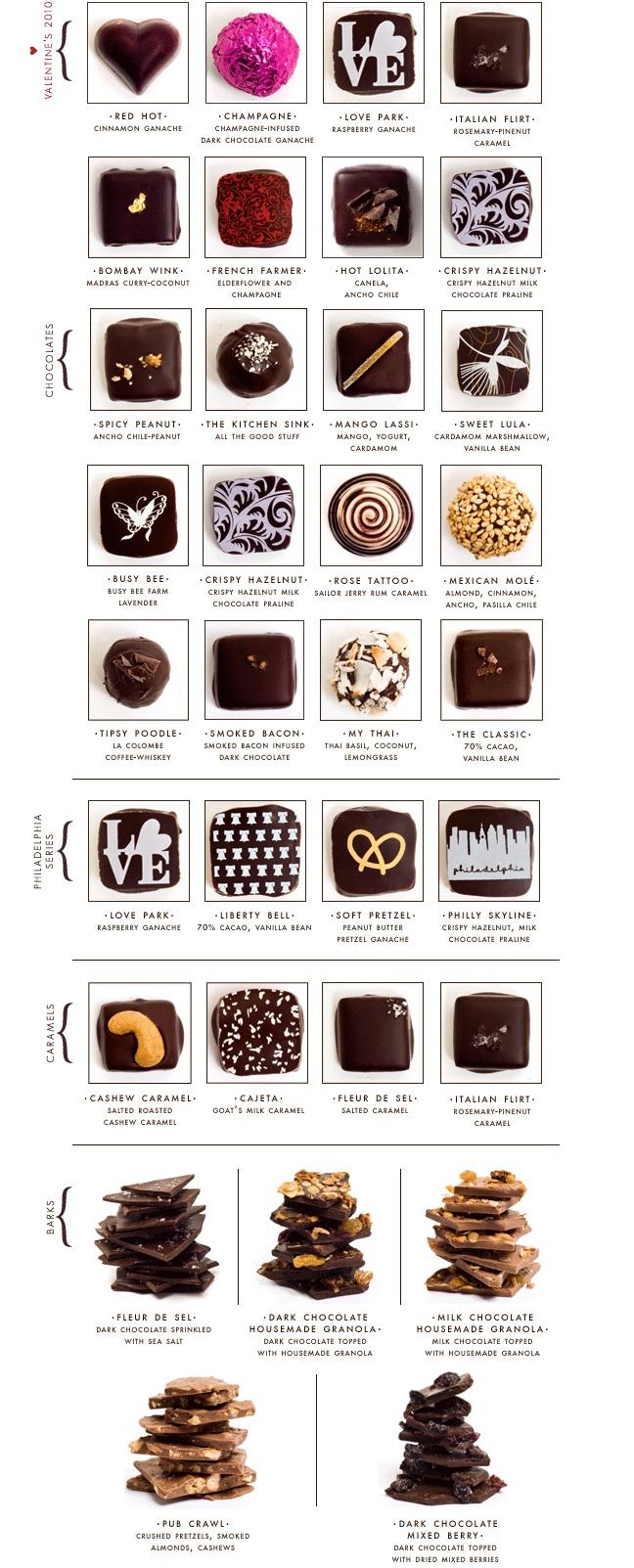Im gonna be my own Valentine and buy myself these....Artisanal Chocolates by Marcie Blaine!