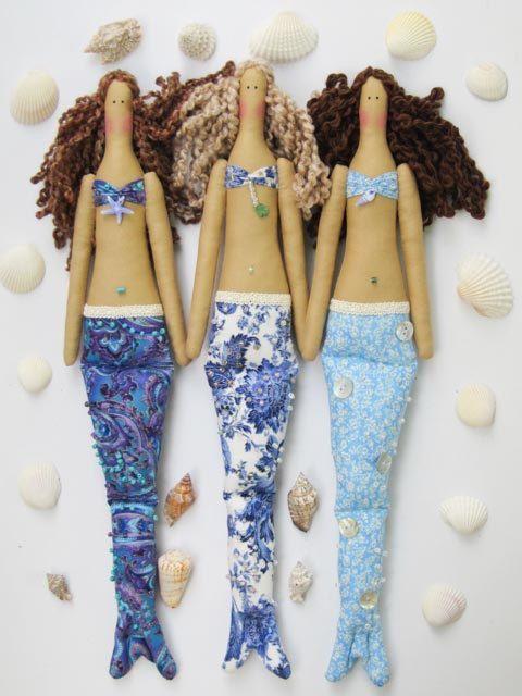 #Mermaid #doll #mermaiddoll #ragdoll #clothdoll #nautical handmade #cloth #doll by #HappyDollsByLesya