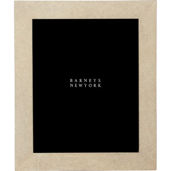 """Ginger Brown Shagreen 8\"""" x 10\"""" Picture Frame (40015 RSD) ❤ liked on Polyvore featuring home, home decor, frames, ivory, ivory picture frames, antique white picture frames, brown frames, cream picture frames and brown picture frames"""
