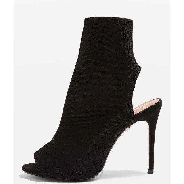 Topshop Madame Sock Boots (€44) ❤ liked