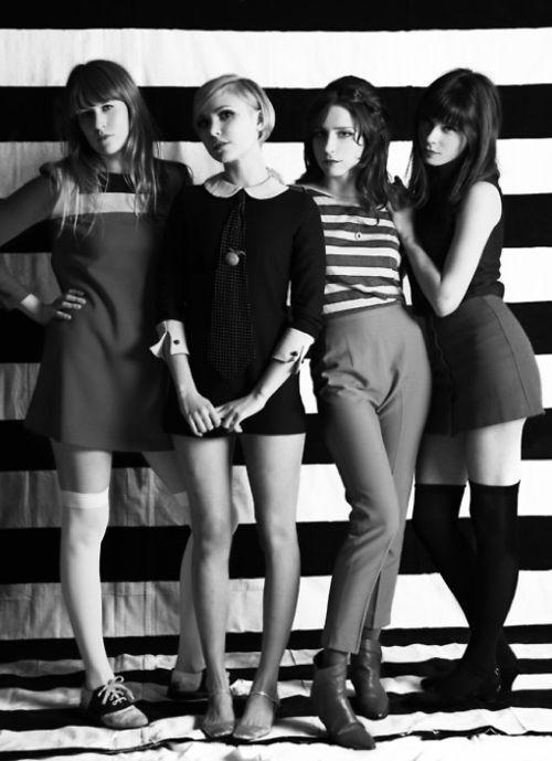 the like, 60s, black and white, photography, style, retro, shift dress, stripes, fashion