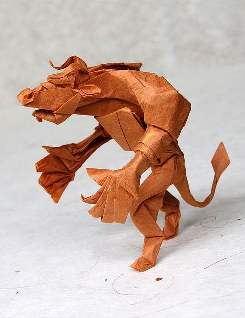 Origami Simple Dragon Shuki Kato Diagram