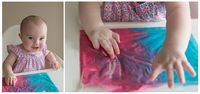 Sensory play with homemade paint and a 7 month old baby - so much fun!