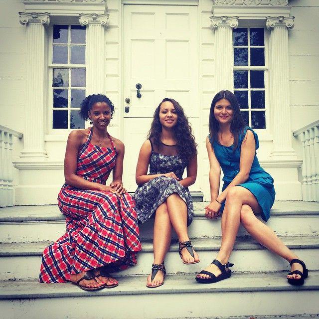 Renee Elise Goldsberry, Jasmine Cephas-Jones, and Philippa Soo