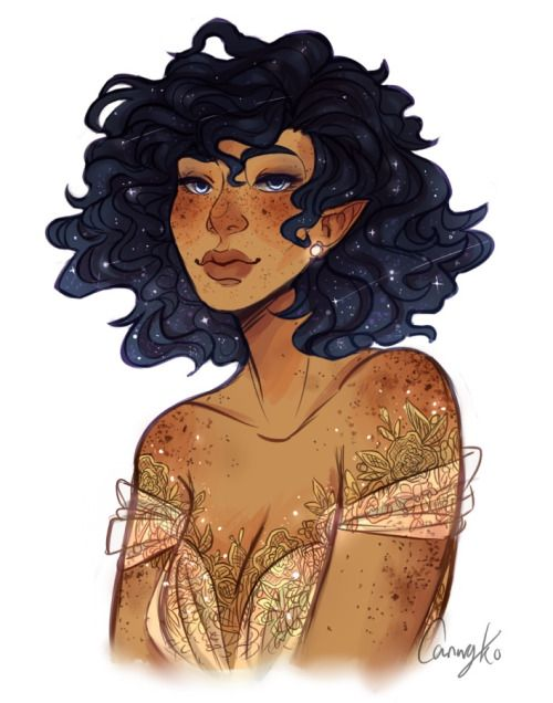Maybe Adeleh, in book 3. [the-twelve-realms: art by doodlesfromthebird | princess Astraea]