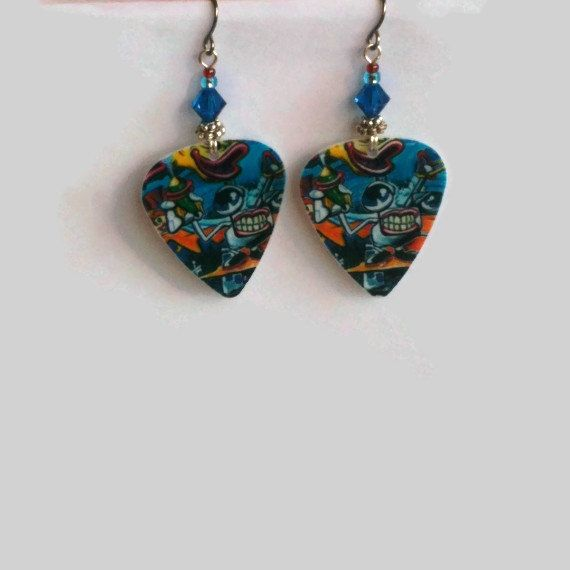 70's Art Guitar Pick Earrings 3 40 Off See by JazziSparklies, $12.00