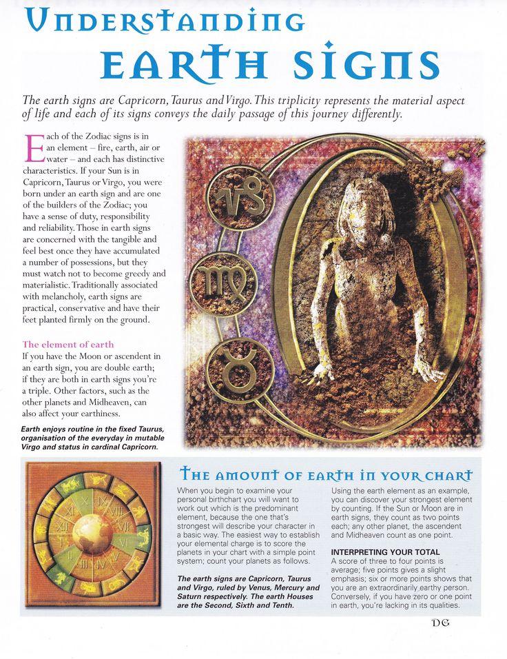 Astrology:  Understanding #Earth #Signs.