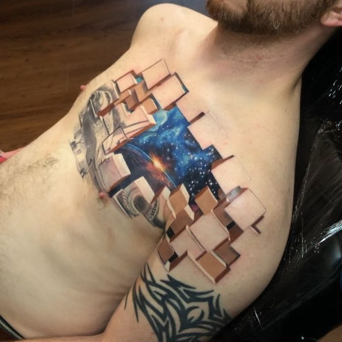 This Tattoo Artist S 3d Tattoos Illustrate Incredible Worlds Underneath The Skin Amazing 3d Tattoos 3d Tattoos Tattoo Artists