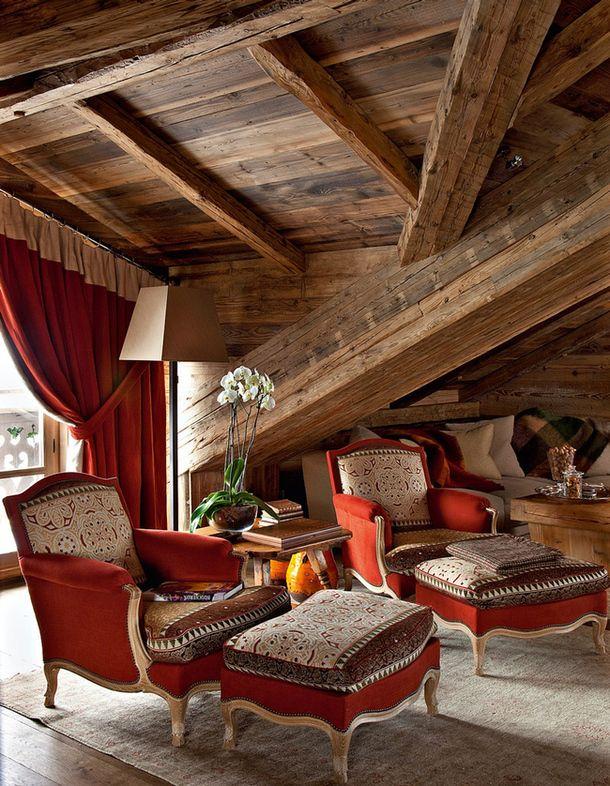 Шале во французских Альпах, дизайнер и архитектор Кристоф Толлемер.