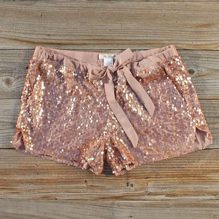 Glitter Girl Party Shorts...... These would be cute w black tights, booties, and a cute black knit sweater!