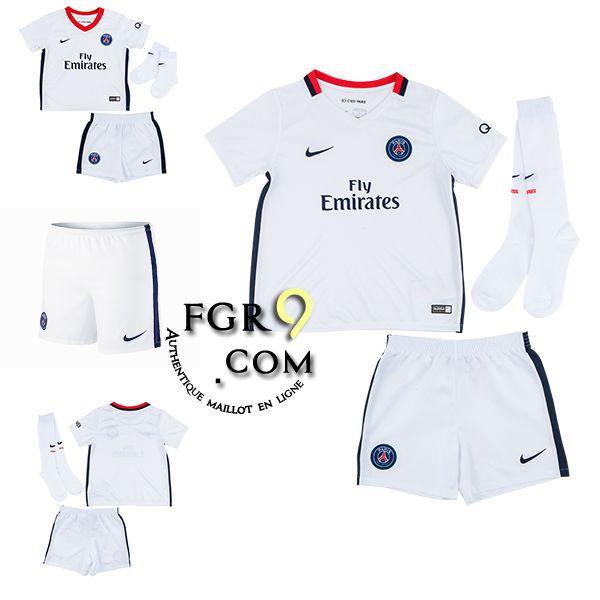ensemble de foot junior Boutique PSG maillot foot enfant 2015-16 extérieur en ligne