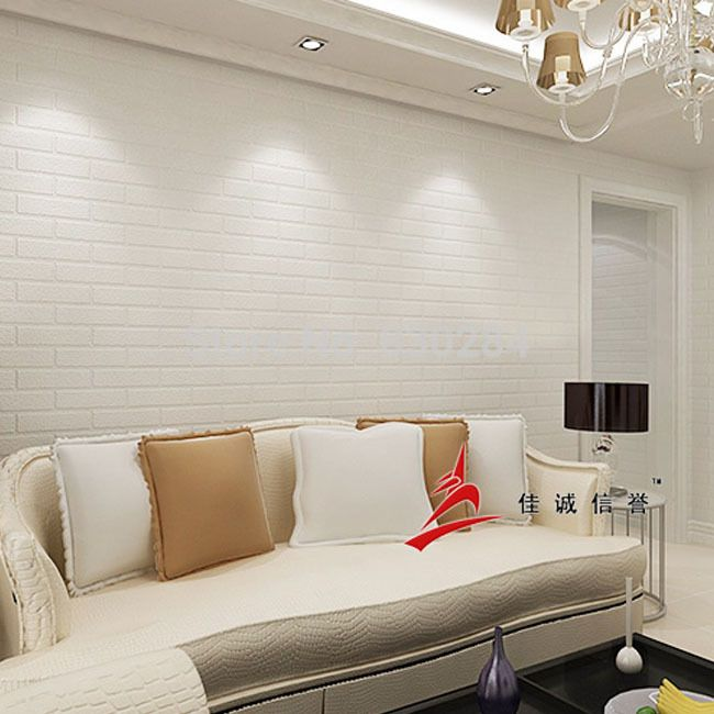 Find More Wallpapers Information About Modern Vinyl White PVC Brick All Situation Living Room Bedroom