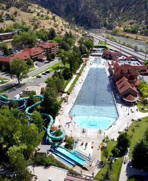 Things to Do in Colorado in Summer: white-water rafting, kayaking, ziplining and other river and mountain fun in the Roaring Fork Valley Near Aspen and Glenwood Springs.: Glenwood Hot Springs Pool