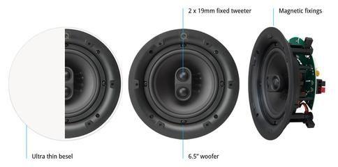 Q Acoustics Qi 65CSt Single Stereo In Ceiling Speaker