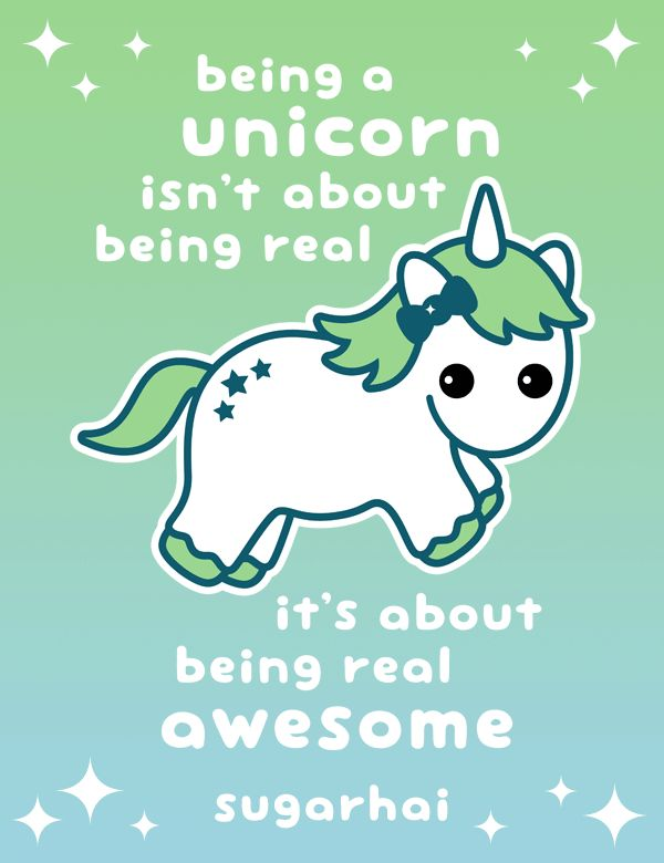 Real Awesome Unicorn Cute Quotes & Sayings Unicorn