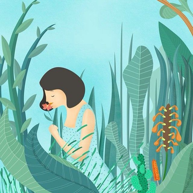 ❤️ #illustration  #forest #sky #jungle #happiness #bestfriend