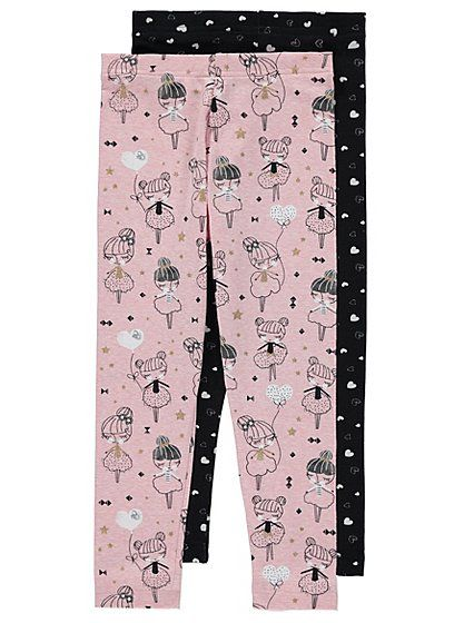 2 Pack Assorted Print Leggings, read reviews and buy online at George at ASDA. Shop from our latest range in Kids. Your little fashion fan will be thrilled t...