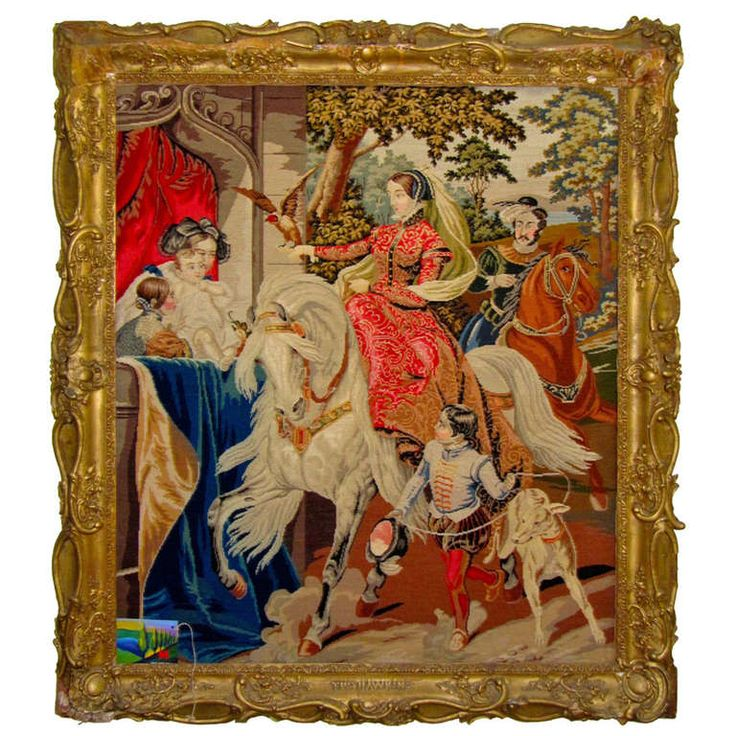 Magnificent 19thc/16thc.design-Royal English'The Hawking' Tapestry | From a unique collection of antique and modern tapestries at https://www.1stdibs.com/furniture/wall-decorations/tapestry/