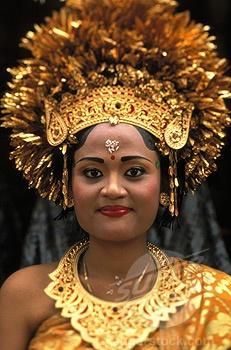 Traditional Balinese wedding attire