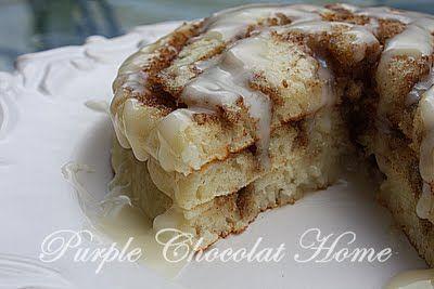 Amazing Blog!! for food, home, life: Cinnamon Swirls, Yummy Food, Cinnamon Rolls Pancakes, Pancakes Recipes, Yummy Pancakes, Cinnamon Pancakes, Swirls Pancakes, Cream Cheese Glaze, Purple Chocolat