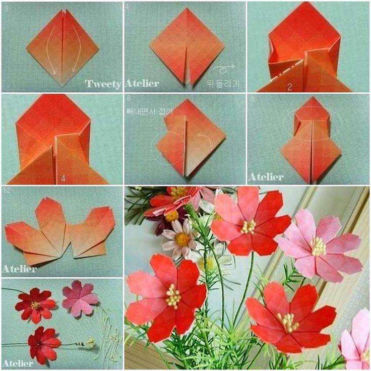 модель цветка из бумаги пошаговое фото въезжаешь