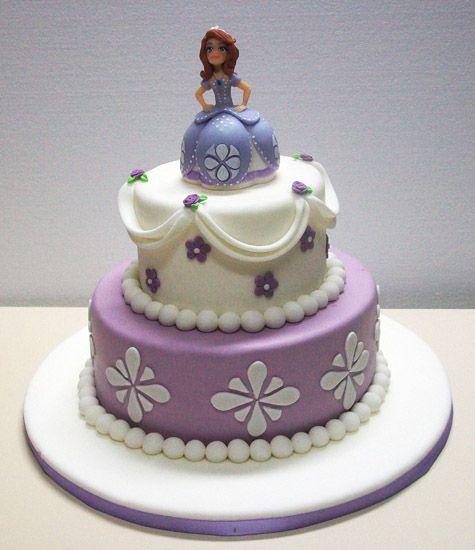 Torta Princesa Sofia Disney Con Fondant pastillaje