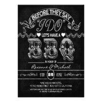 chalkboard BBQ stylish modern rehearsal dinner Custom Invitation