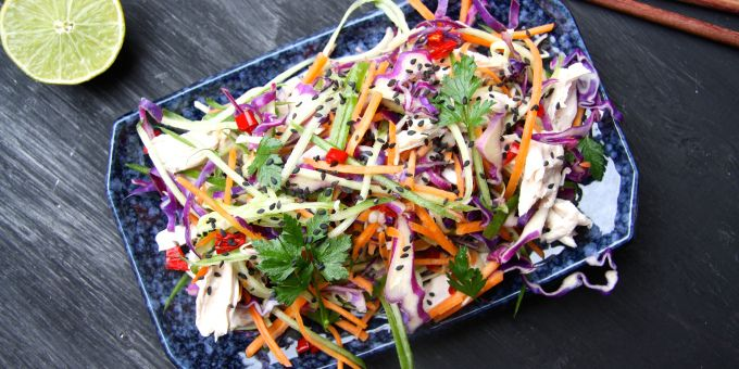 This simple summer salad recipe is from Zoe's e-Book at My Healthy Kitchen. Full of fresh and beautifully coloured vegetables, this salad will keep you cool in those warm summer nights. - See more at: http://iquitsugar.com/recipe/vietnamese-slaw/#sthash.DOYC0Jyc.dpuf