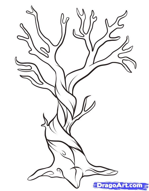 How To Draw A Dead Tree by Dawn (With images) | Tree ...
