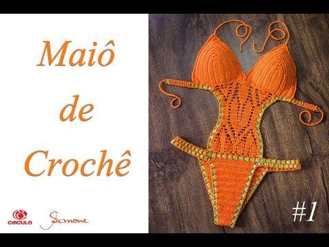 Maiô de Crochê Body parte 1 - Simone Eleotério