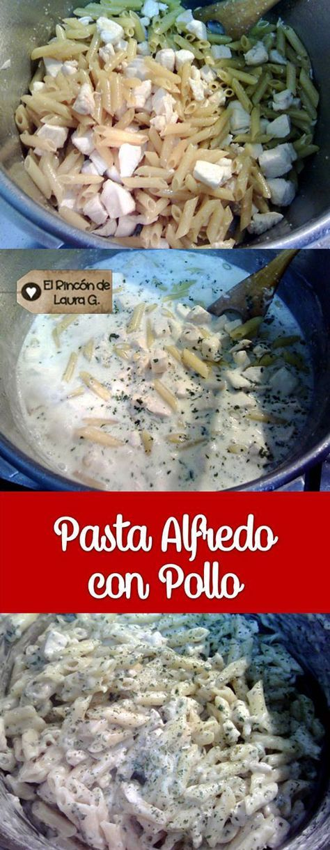 Pasta Alfredo con Pollo, #FÁCIL