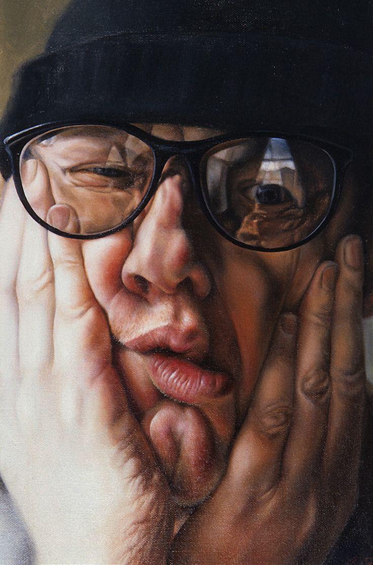 john lilia mazurkevich oil on canvas 2010 figurative art male head