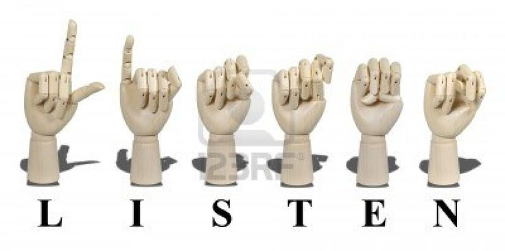 Listen Spelled Out In American Sign Language Is Expressed With.. Royalty Free Stock Photo, Pictures, Images And Stock Photography. Image 10280865.