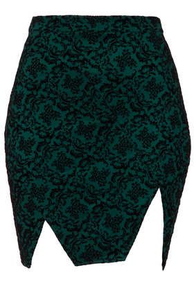 **Flocked Notch Skirt by Love - New In This Week  - New In