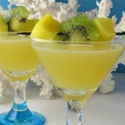 Tropical Depression (1 1/2 oz mango flavored vodka 1 1/2 oz orange juice 1 1/2 oz apple juice 1 1/2 oz pineapple juice)