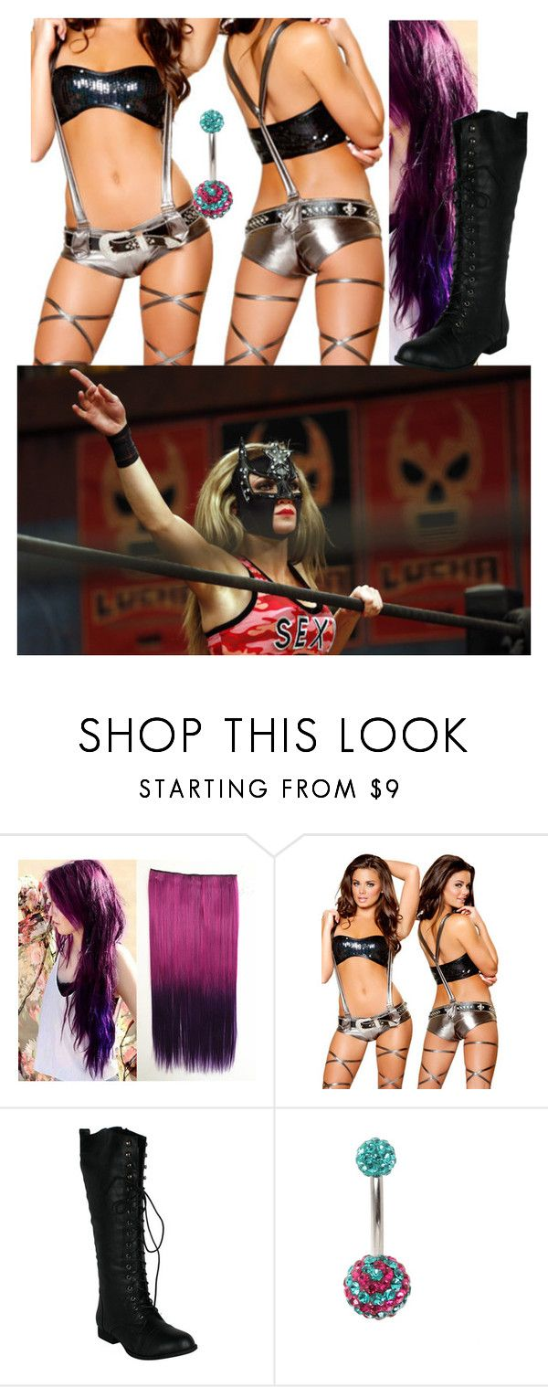 """Match against Sexy Star!!!"" by carmellahowyoudoin ❤ liked on Polyvore featuring wrestling and LuchaUnderground"