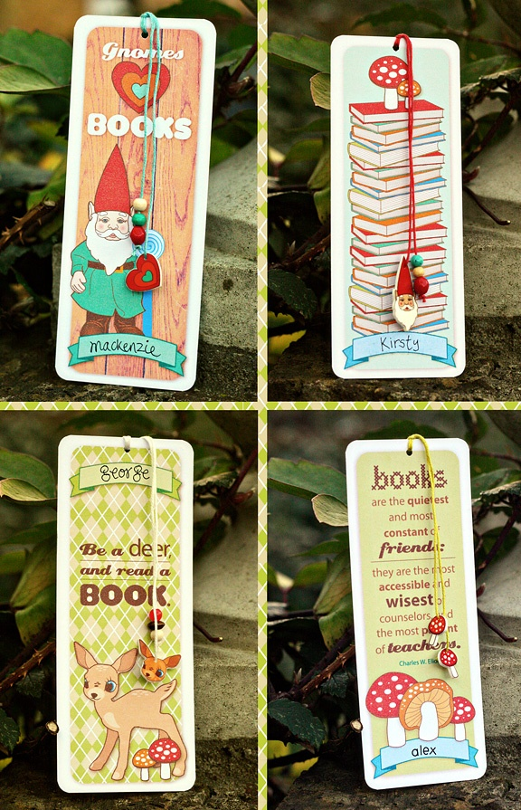 little shrinky-dink charms (on bookmarks)