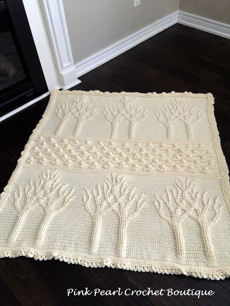 Tree of Life Family Heirloom Afghan by PinkPearlCrochetCA on Etsy