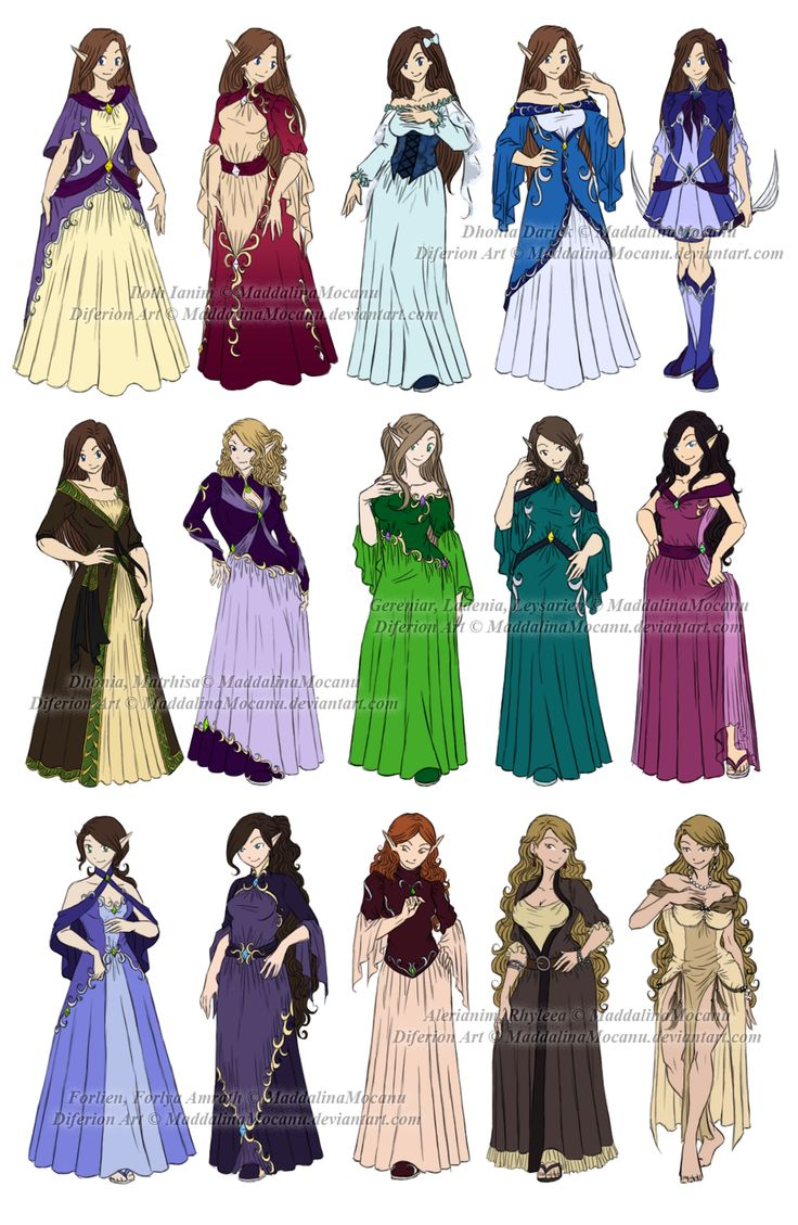 Character Design Clothing Tips : Dress n clothes designs p different women by