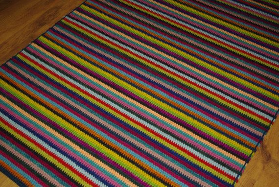 Crochet Square Rug/Rectangular Rug 180 cm/127 by AnuszkaDesign, $170.00