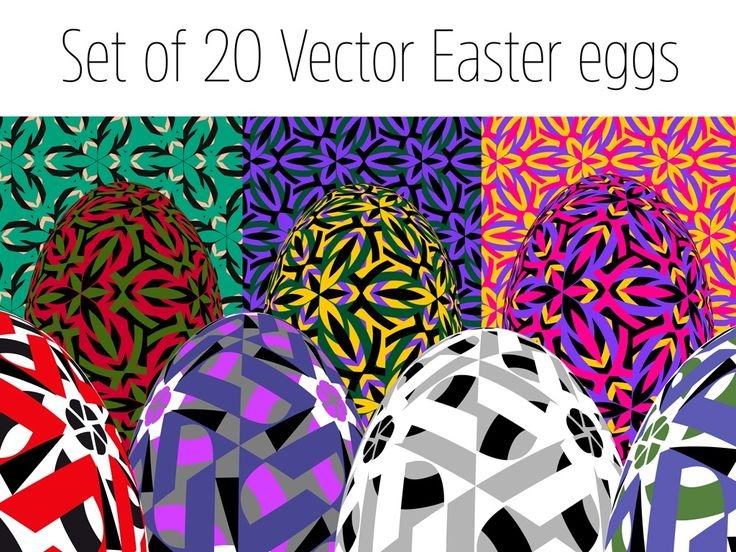 This package contains 20 unique, high quality, vector images of Easter Eggs for versatile applications such as: web design, advertising, presentations, posters and large format prints, publishing (illustration, book covers), digital and physical postcards, the only limit is your imagination. Images