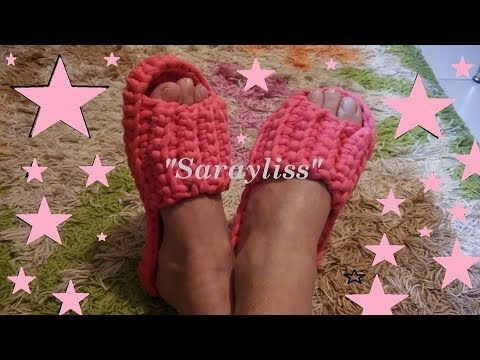 How to make a slipper with crochet - YouTube