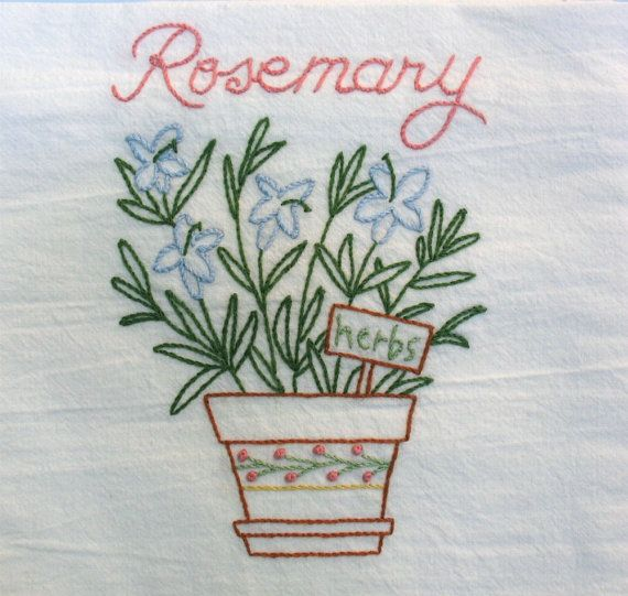Embroidered towel - i want to make this!